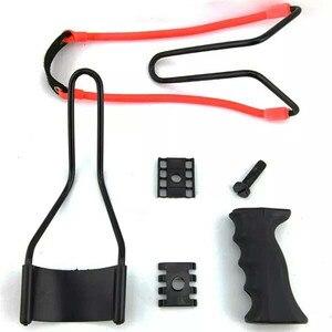 Image 5 - Proca profesjonalna z gumką i podpórka pod nadgarstek 2 kolory proca do polowania uchwyt ABS zewnętrzna strzelanka