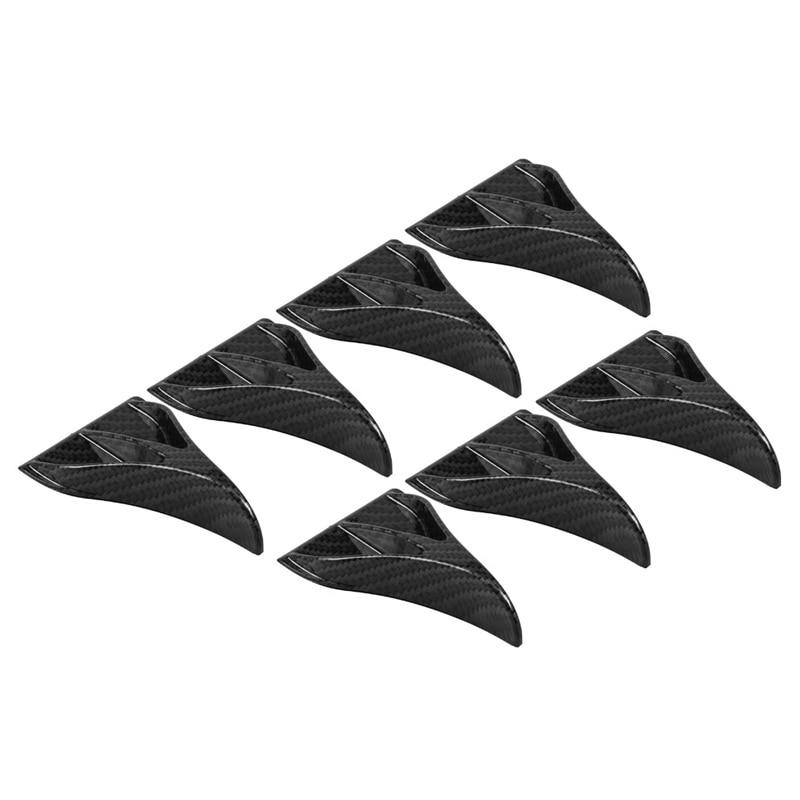 US $14 61 12% OFF|4 PCS Eagle Claw Shape Shark Fin Diffuser Car Stickers  Roof Refitting Vortex Generator Carbon Fiber Pattern Black/Carbon Fiber -in