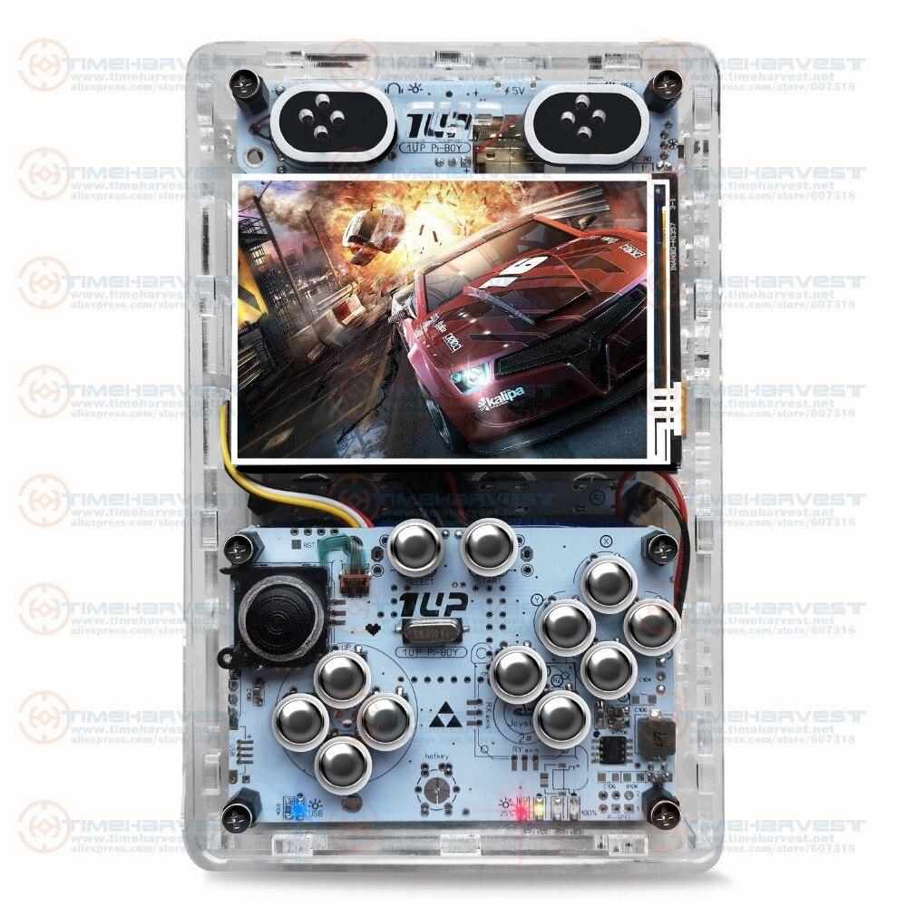Poche mini jeu d'arcade 3.5 pouces HD IPS LCD framboise Pi 3 + 64G carte système de Recalbox Portable Mini poche jeu d'arcade Gameboy