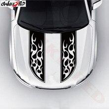 Auto Head Engine Cover Decor Sticker Tribal Flames Stripe Totem Graphics Car Hood Accessories Waterproof Vinyl Decal