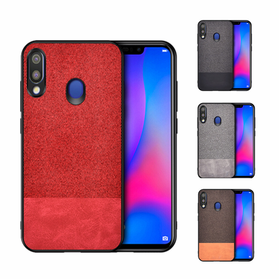 For Samsung Galaxy A70 case A50 A40 A30 A10 Classic Fabric Cloth Soft TPU PC Hard Cover shockproof Coque For Samsung Galaxy A10 in Fitted Cases from Cellphones Telecommunications