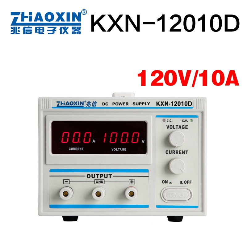 KXN-12010D High Power Digital DC Power Supply / 120V10A 0.1V 0.1A Adjustable Aging plating power supply kxn 6040d high power adjustable dc power supply 60v40a battery test charge aging vehicle maintenance equipment page 3