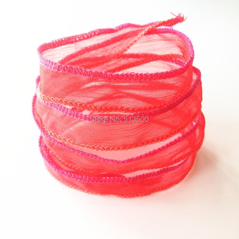 Sutra bungkus gelang, Gelang yoga, Musim panas perhiasan gelang, - Perhiasan fashion - Foto 5