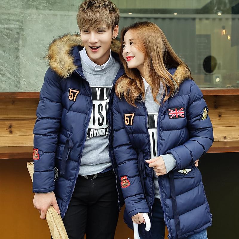 New Winter Warm Long Winter Jackets Men Women Lover Fur