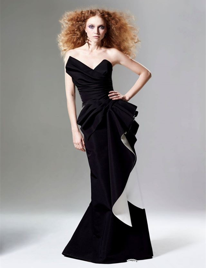 Popular Black and White Evening Dress-Buy Cheap Black and White ...