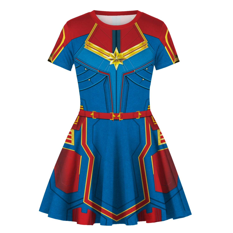 The Avengers 4 Endgame Cosplay Costume  Captain Marvel Women Costume Superhero Baby  Toddler Dress 2019