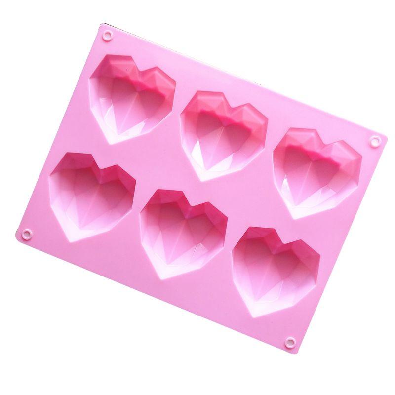 3D Алмазная вышивка с принтом «сердце» прямоугольной формы силиконовые DIY Форма для Мусса Торт Шоколад Мыло Форма для пудинга ручной работы ...