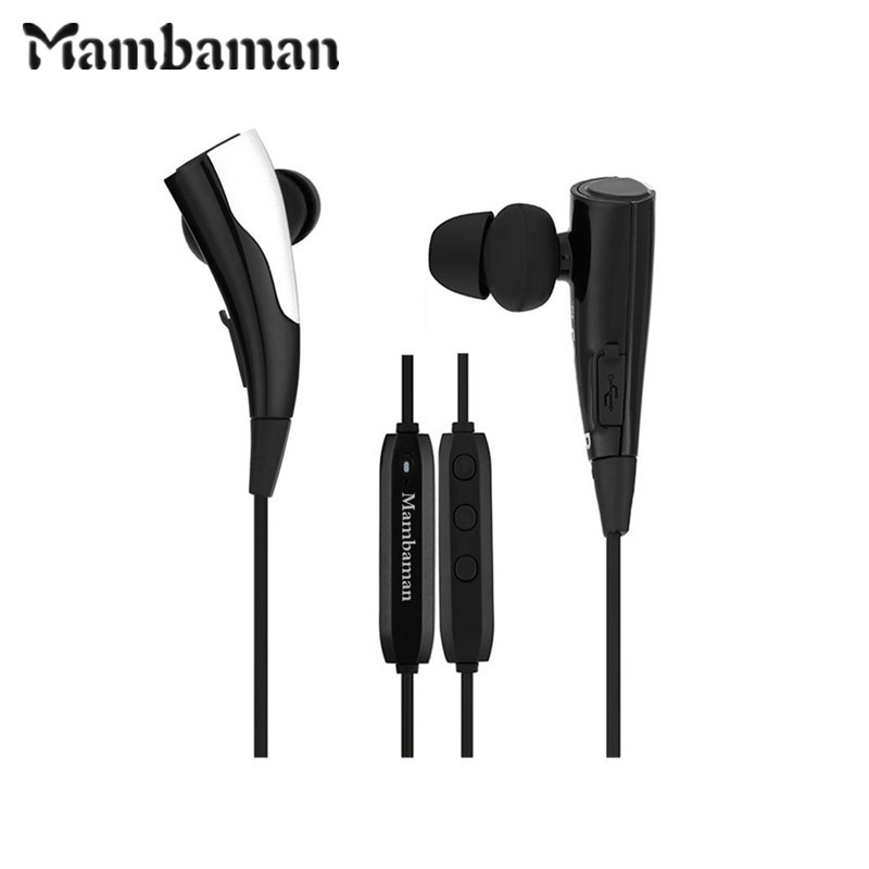 Mambaman MBK9 Bluetooth Earphones Sports Wireless Music Stereo HIFI Headset Built magnet with Mic for phone xiaomi Smartphone S8 настольная лампа mantra ninette antique bras арт 1937