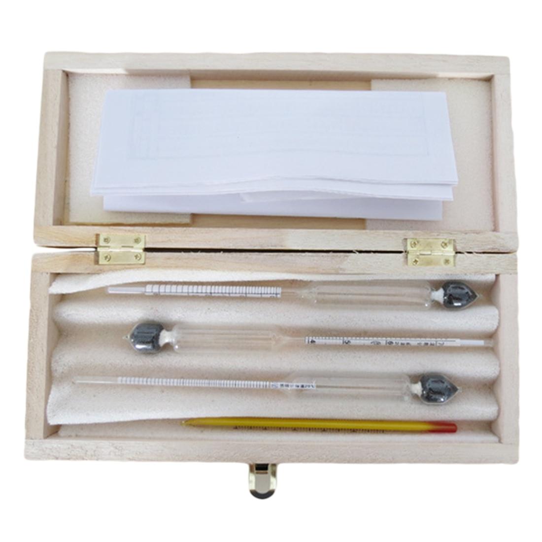 Caliente 3 unids/set vidrio alcoholímetro vino metros Alcohol concentración Alcohol instrumento hidrómetro probador