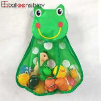 BalleenShiny Cartoon Duck Frog Toy Storage Pocket Mesh Bathroom Wall Suction Baby Kids Toy Organizer Net Toiletries Neaten Bags