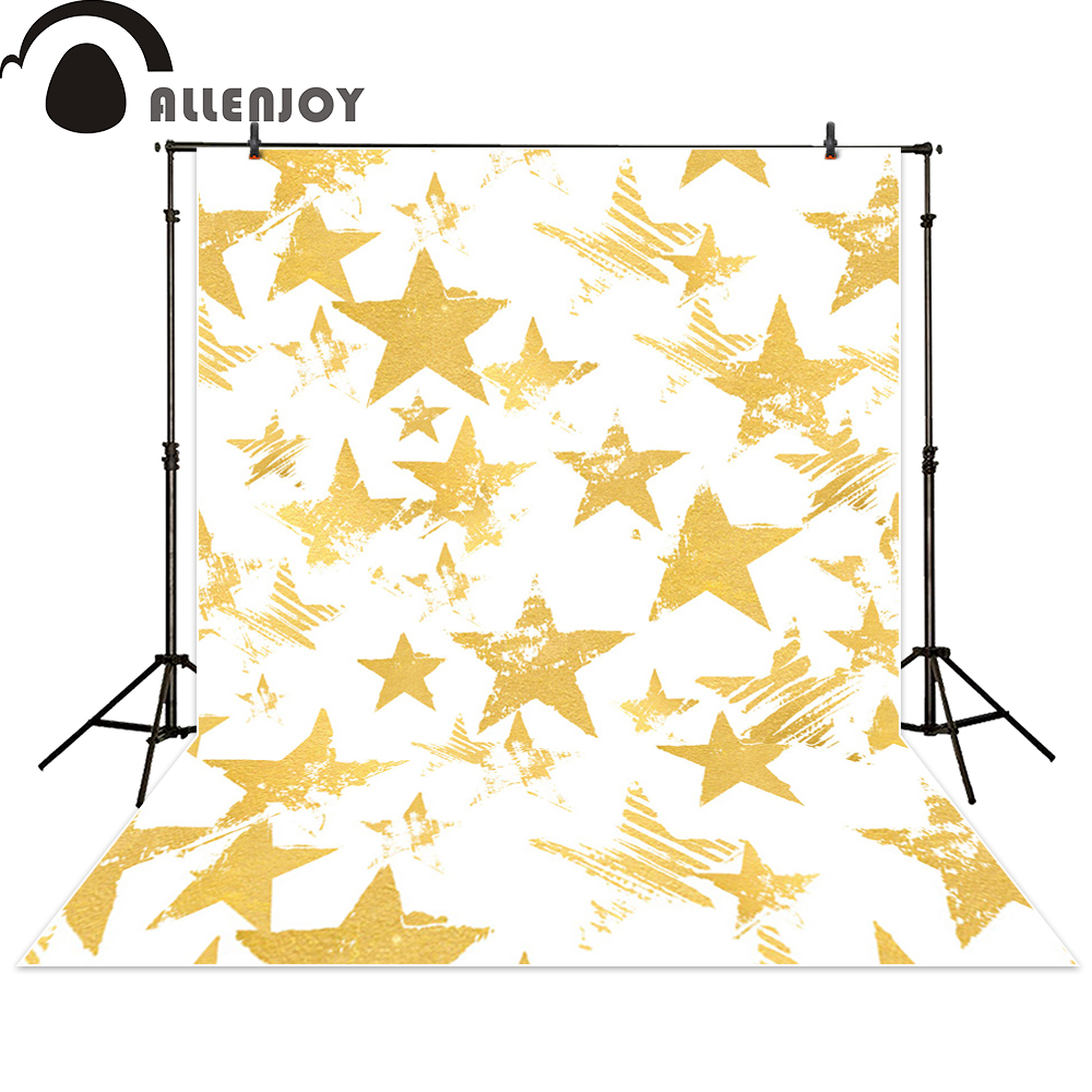 Allenjoy background photography stars vintage baby golden backdrop photo studio fantasy photocall photographic весело нагло по нашему футболка муж