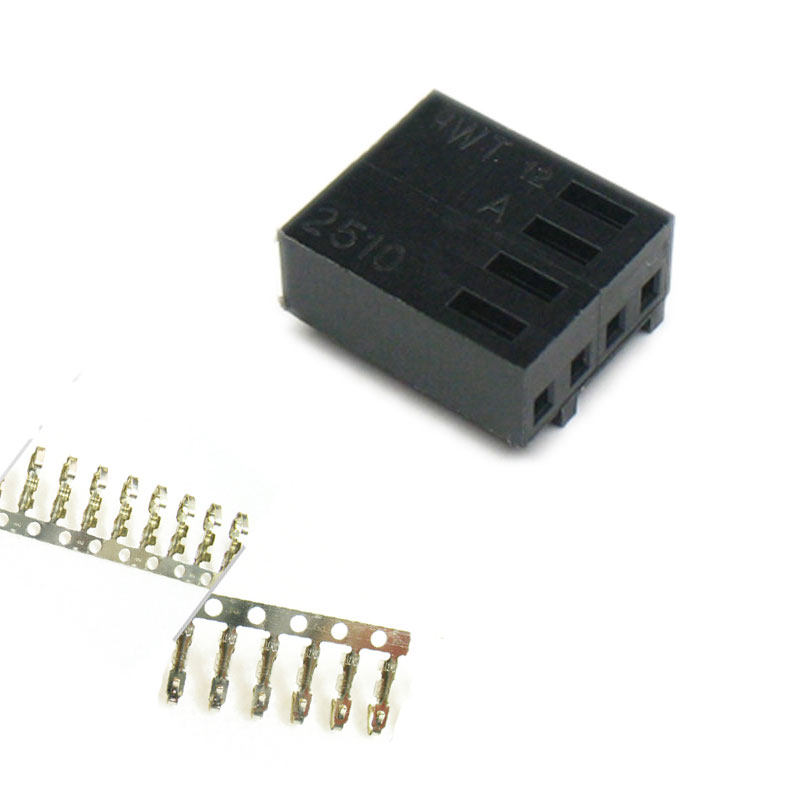 Angitu 2510 2540 4pin PWM Fan Connector Housing With 4pcs Free Terminals