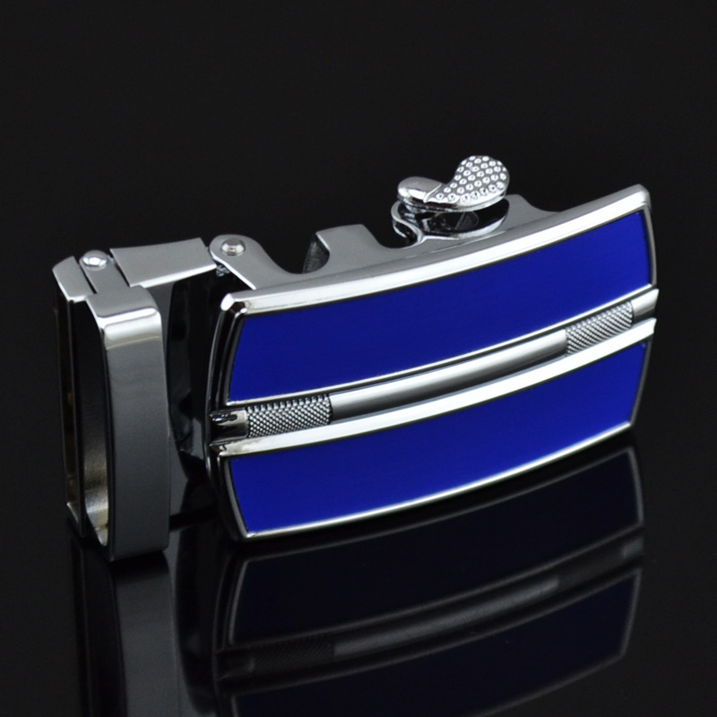 Men's Belt Buckle Zinc Alloy Rubber Automatic Belt Buckle Men's Belt Head Automatic Buckle LY0257-Blue