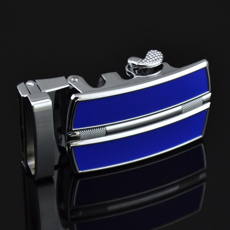 Men's Belt Buckle Zinc Alloy Rubber Automatic Belt Buckle Men's Belt Head Automatic Buckle LY0257-Blue