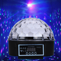 Disco ball LED sihirli kristal halka etkisi desen bar sahne dans ışıkları KTV lazer ışıkları 110-240 V A833
