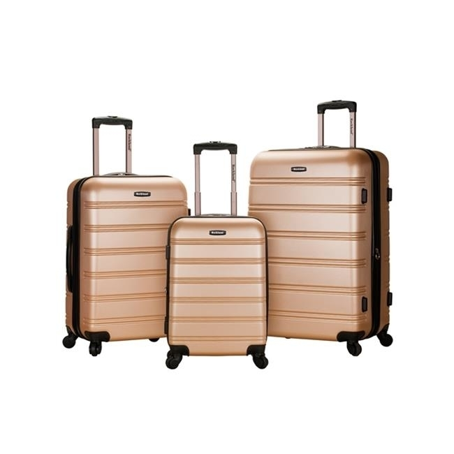 Rockland F160-CHAMPAGNE MELBOURNE 3 PC ABS LUGGAGE SET - CHAMPAGENE migos melbourne