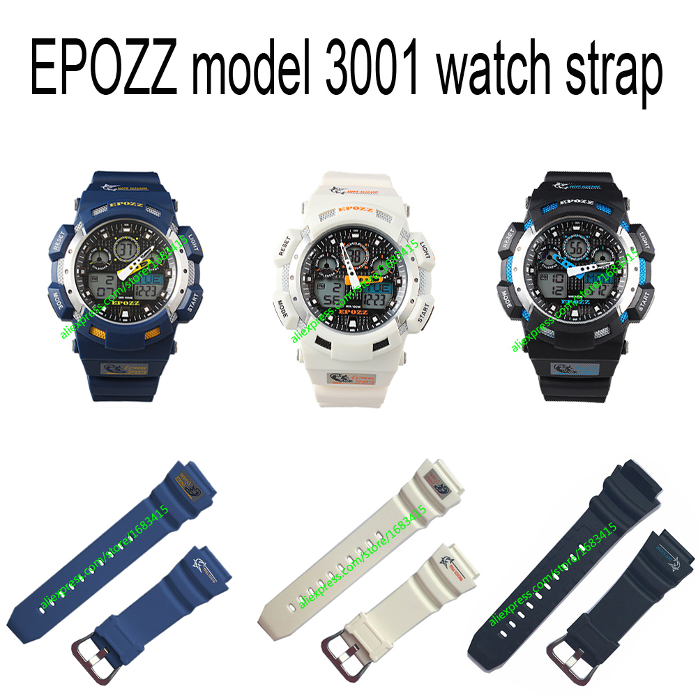 High Quality Watch Band Rubber Sport Watch Strap Waterproof For Pasnew Lapgo White Blue Black Colour For EPOZZ 3001