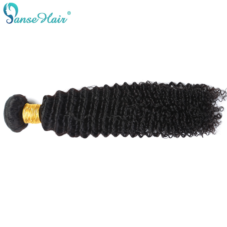 Panse Hair Brazilian Hair Deep Curly 8-30 Inches 1B 100% Human Hair Weaving One/Three/Four Thick Full Bundles Non Remy Hair ...