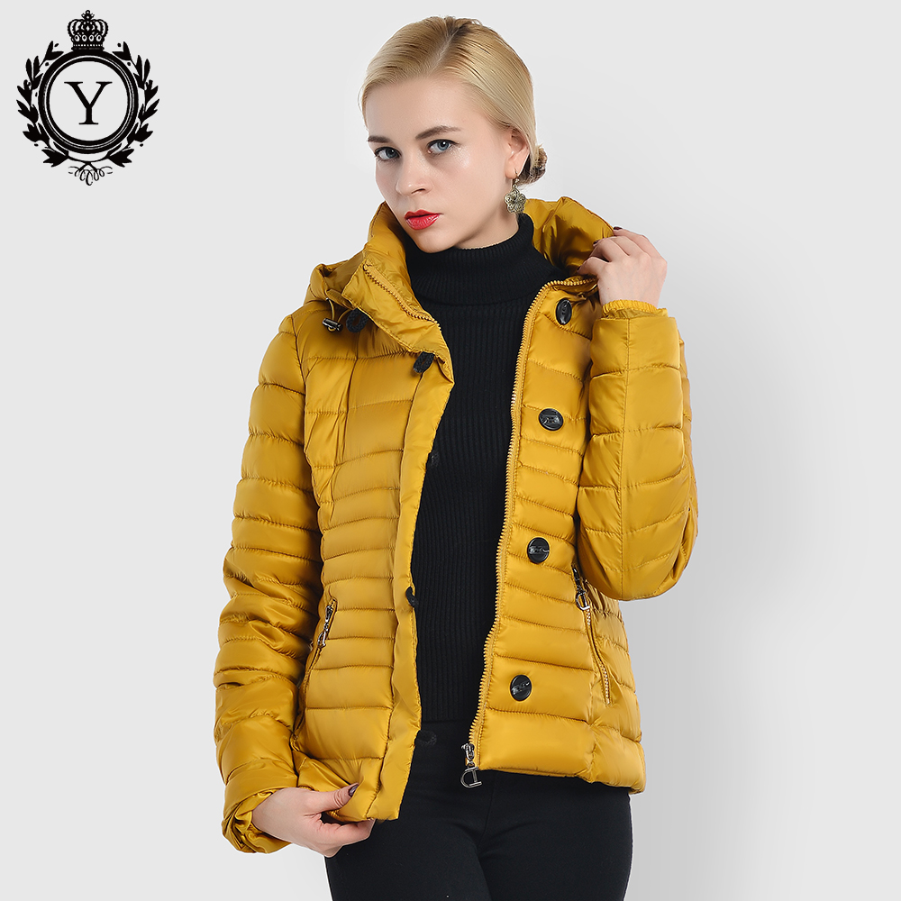 COUTUDI High Street Women Coats Winter Slim Warm Waterproof Woman Jacket Short Cotton Padded Parkas Jacket
