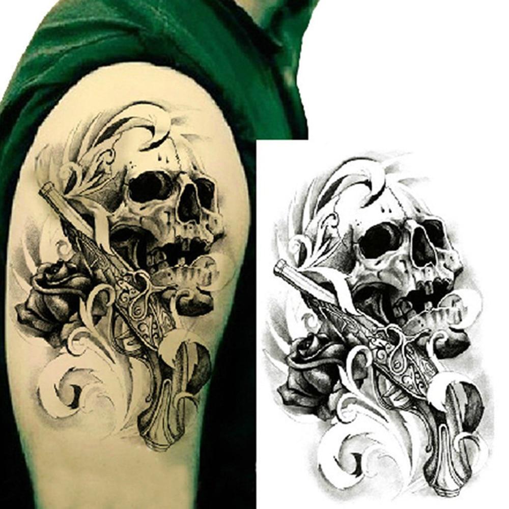 Popular 3d Skull Tattoos-Buy Cheap 3d Skull Tattoos lots