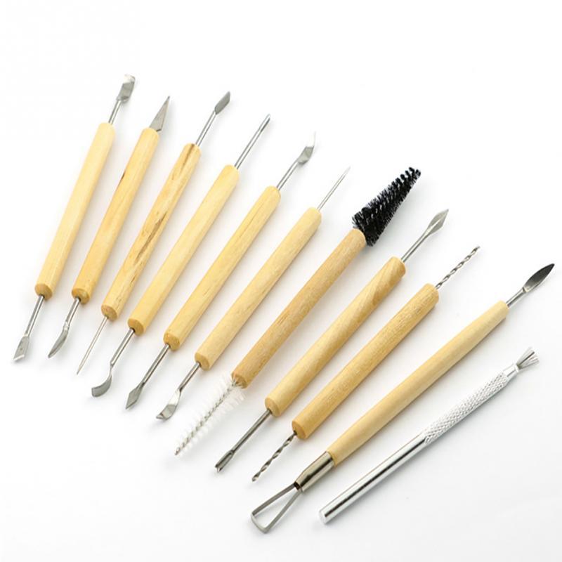 Handhobel 11 Stücke Handwerkzeuge Shapers Für Fimo Skulptur Modelle Tongefäße Diy Ton-skulptur Tool Kit Handwerkzeuge