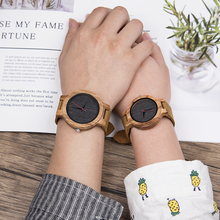 DODO DEER Lovers Wood Watches Women Men Analog Quartz Fashio