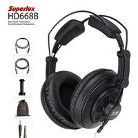 Superlux HD668B Headphones Professional Semi open Studio Standard Dynamic Headset Monitoring For Music Detachable deep Bass