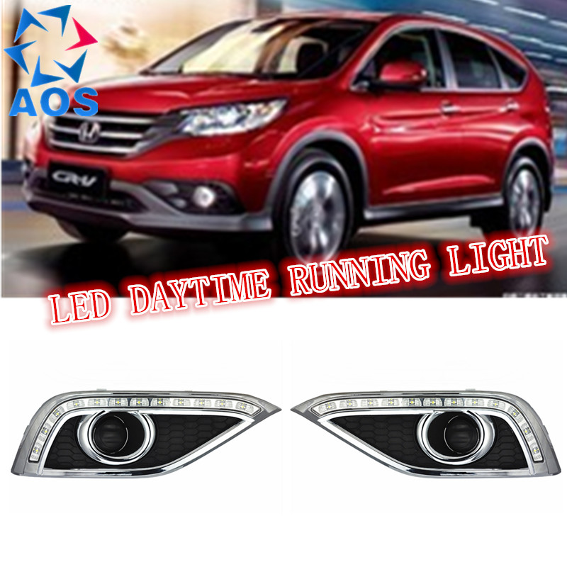 2PCs/set LED DRL Car daylight Daytime Running Light drl led For Honda CR-V CRV 2012 2013 2014 with Turn Signal lamp Function