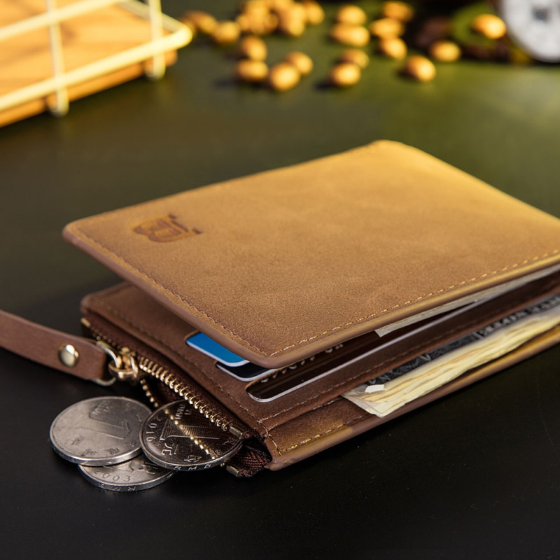2020 Fashion Casual Hot Sales PU Leather Mens Wallet Zippper Coin Purse Cover Small Brand Male Credit Multifunctional Wallets