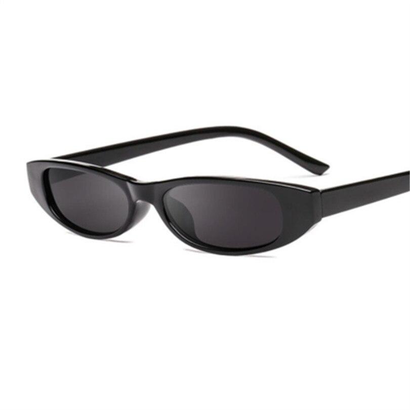 Sunglasses Women Small Rectangle Cat Eye Brand Designer Retro Skinny Eyewear Black Frame Red Sun Glasses