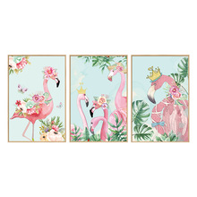 Flamingos Creative Photo Frame Wall Sticker Art Decal Home decor for Mural Stickers Cute Decals PVC Christmas Wedding Decoration