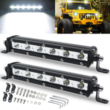 цена на Work Light OVAL LED Light Bar For Auto Car Motorcycle Truck Trailer Tractor Boat OffRoad 4WD 4X4 ATV SUV Driving Light 12V 24V