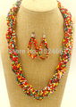 BMX00065  necklace  exaggerated multi layers colorful seed african beads *