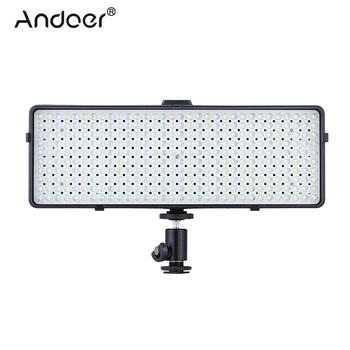 Andoer DV-320GD 320 światło led do kamery s vari-temp światło led do kamery zestaw lampowy W 45 stopni rozprowadzanie wiązki do lustrzanki cyfrowe kamery tanie i dobre opinie Us wtyczka Bi-color 3200 K-5600 K Radiator natural ventilation 2800K-6500K