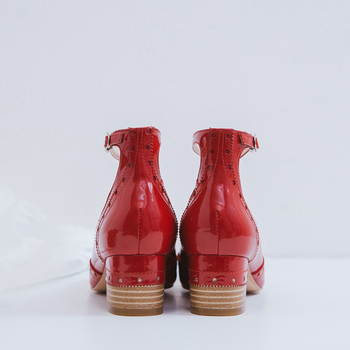 2 дюймовые насосы | Обувь женская кожаная черная офисная удобная обувь модные офисные женские туфли-лодочки на низком каблуке с закругленным носком на квадрат...