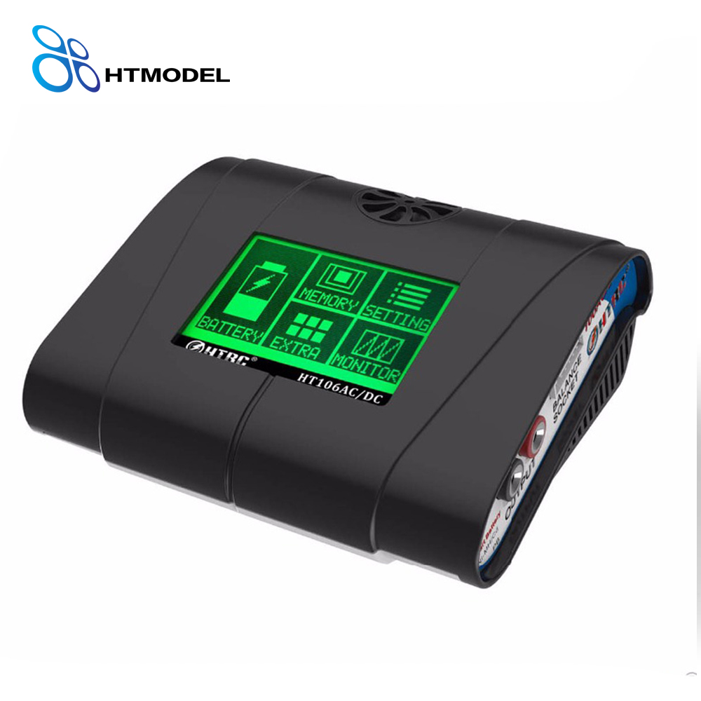 HTRC HT106 AC/DC 100W 10A Battery Charger Lilon/LiPo/LiFe/LiHV RC Balance Charger/Discharger 3.2 inch Touch Screen battery charger 100w