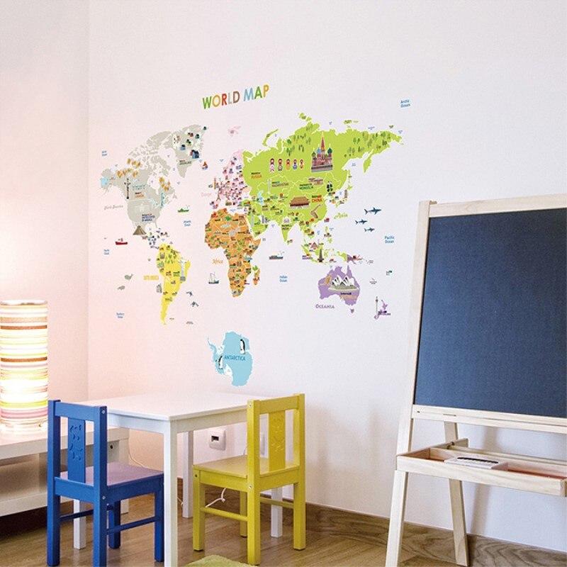 Pvc muurstickers klaslokaal studie tv muur in de woonkamer versieren kinderkamer versieren - Versieren kinderkamer ...