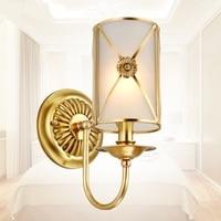 Континентальный Настенные светильники ночники медь лампы Стена коридора освещения спальня балкон коридор лампа lu80246