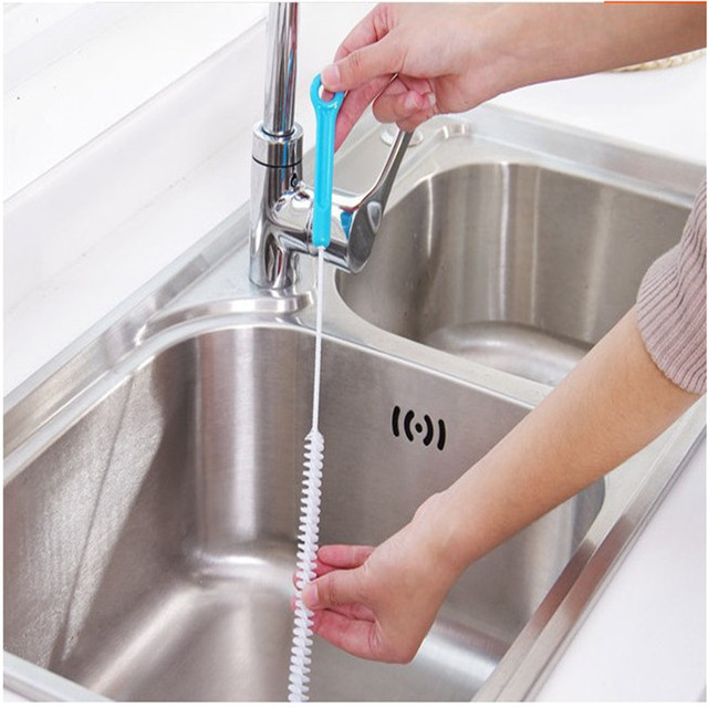 Flexible Cleaning Brush Sink Overflow Drain
