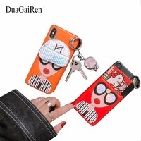 DuaGaiRen Korea Fashion Super Hot 3D Soft PU Modern Girl Goddess Phone Case Cover For Iphone