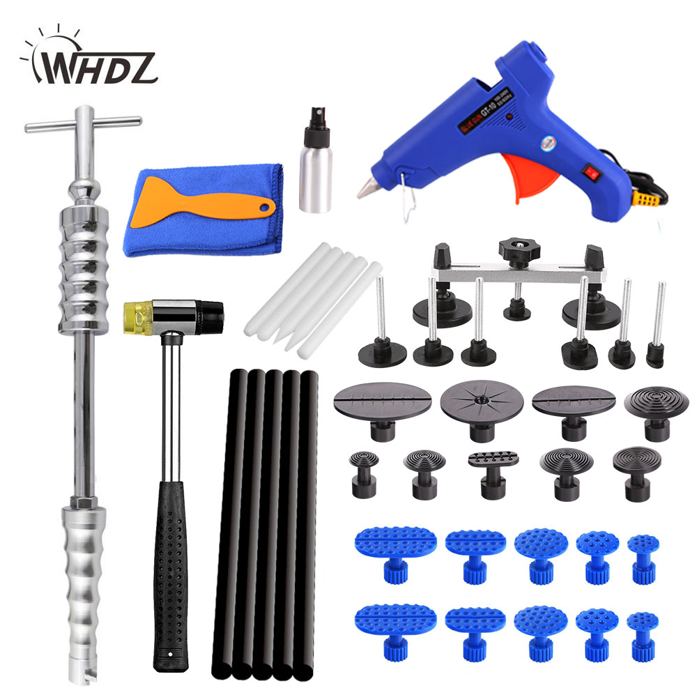 WHDZ PDR tools hand tool Auto Body Paintless Dent Removal Repair Tools Kits Bridge puller Slide Hammer Glue Puller set of tools whdz pdr auto body paintless dent removal repair tools kits bridge puller 2in1slide hammer glue puller automotive door ding dent