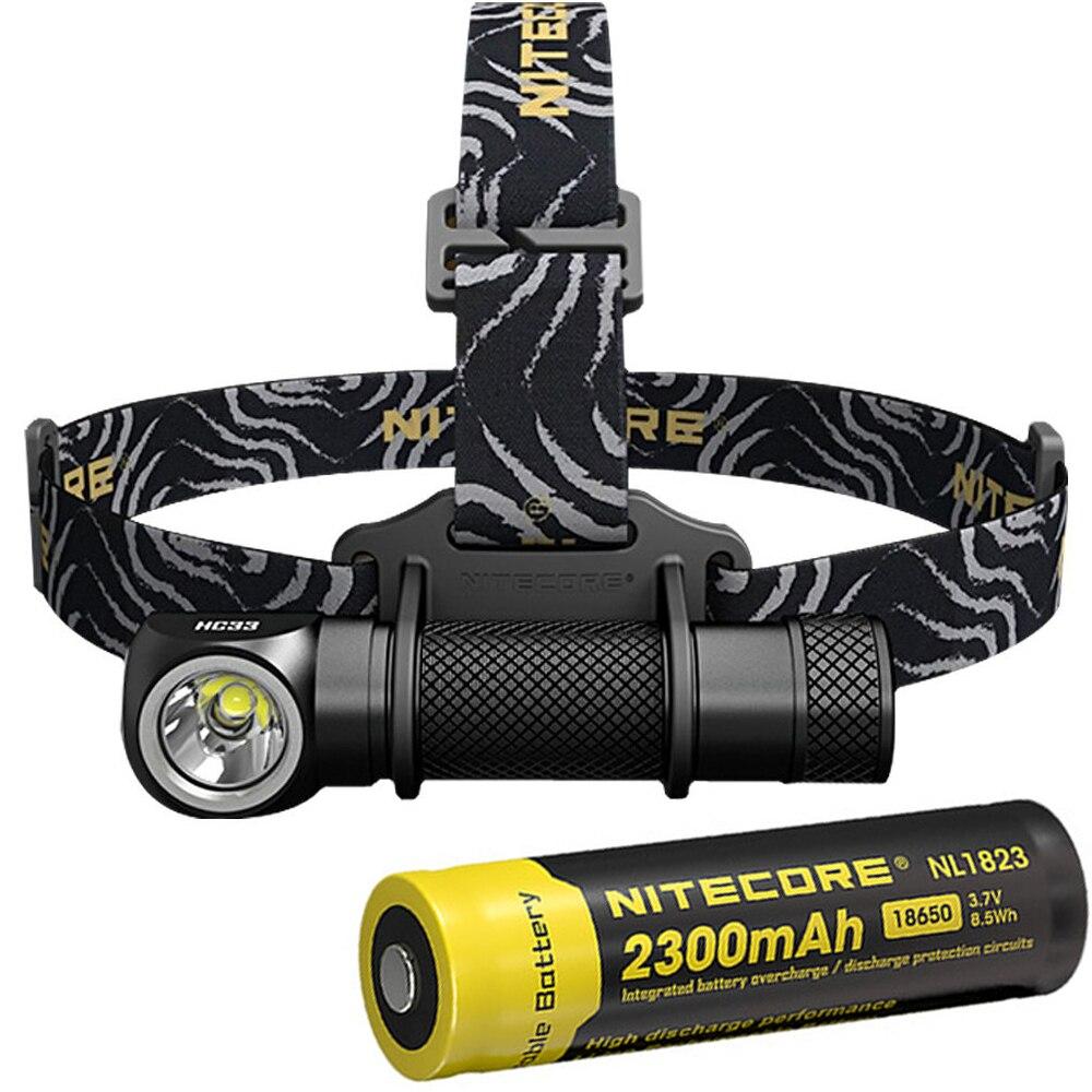 NITECORE HC33 Headlight Kit CREE XHP35 HD MAX. 1800 Lumen headlamp 8 working modes outdoor led head light with 2300mAh battery nitecore ha20 led headlamp headlight helmet light