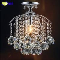 FUMAT Prowadził Małą Kryształową Lampę Sufitową Okrągły Licznik Bar Alejek Oświetlenie Hol Wejściowy Wiszące E14 DOPROWADZIŁY Lampy Sufitowe