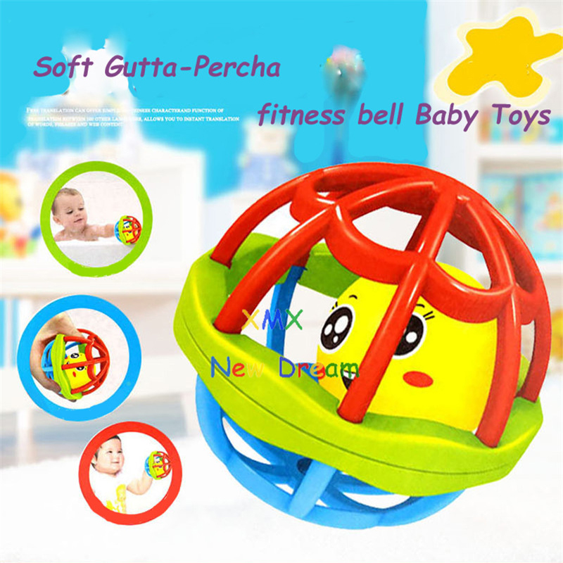 XMXRC. Soft Gutta-Percha Fitness bell. Toy Baby Ball Toy Rattles Develop Baby Intelligence Baby.