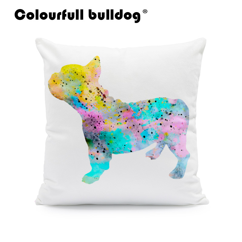 Lovely Animals Pet Dog Puppy Cat Pattern Cushion Cover For Sofa Home Decor Almofadas 18 Inch Decorative Throw Pillows Case Jade White Cushion Cover Home & Garden