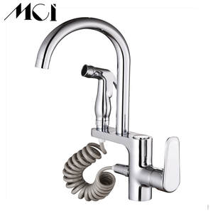 Mci Kitchen Faucet Tap-Sprayer Sink Mixer Pull-Out Rotation Brass Single-Handle 2-Function