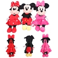 Wholesale Cheap New Bags For Kids Disney Toys Children Plush Backpacks Cute Cartoon Anime Minnie Mickey Stuffed Bags Dj055