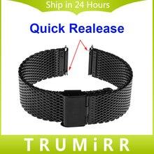 18mm 20mm 22mm Quick Release Watchband for Seiko Men Women Watch Band Milanese Mesh Stainless Steel Strap Wrist Belt Bracelet