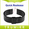 18mm 20mm 22mm liberação rápida pulseira para mulheres dos homens seiko watch band milanese malha cinta de aço inoxidável correia de pulso pulseira