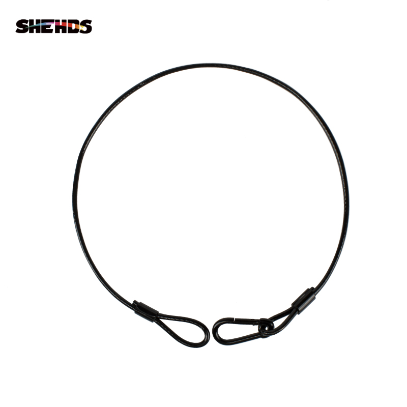 SHEHDS Stainless Steel Rope PVC 3mm 5mm Thickness Wire Safety Cables With Looped Ends For Stage Light Tough Guard Security Lock